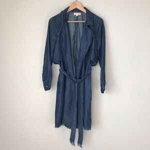 Anthropologie cloth & stone Jean Trench Coat NWOT